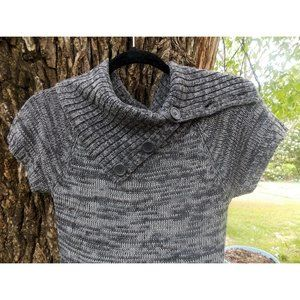 Ambiance Apparel-Grey Heather Sweater Dress-Small